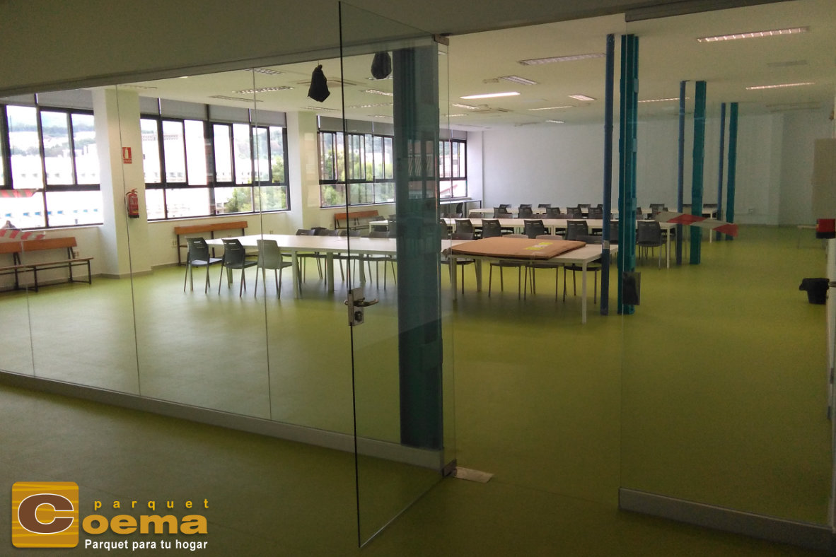Pavimento PVC eAM Universidad de Málaga
