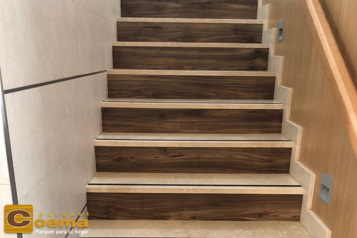 Escaleras pavimento laminado de la marca PARADOR