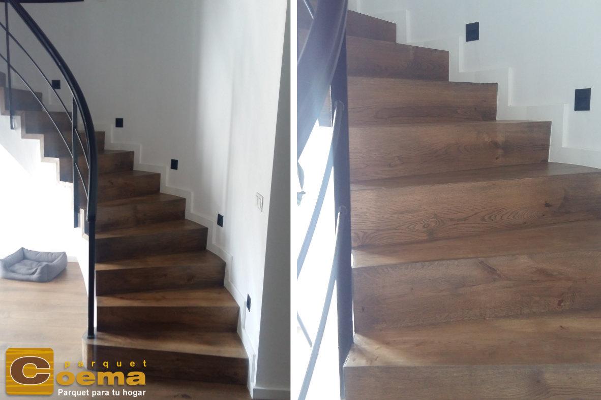 Escaleras madera maciza de roble