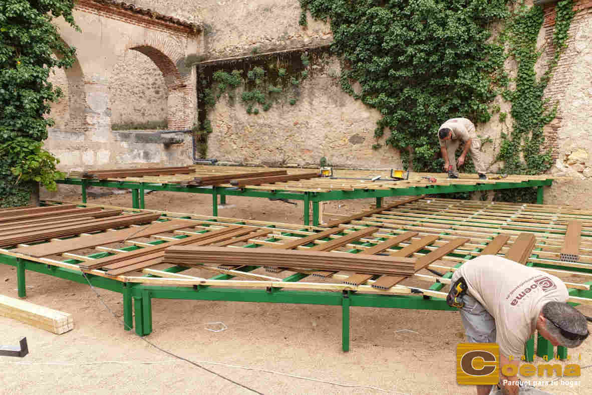 Tarima tecnológica Palacio Episcopal Segovia
