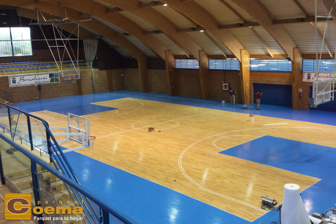 Lijado y barnizado Pabellón deportivo Benahavís