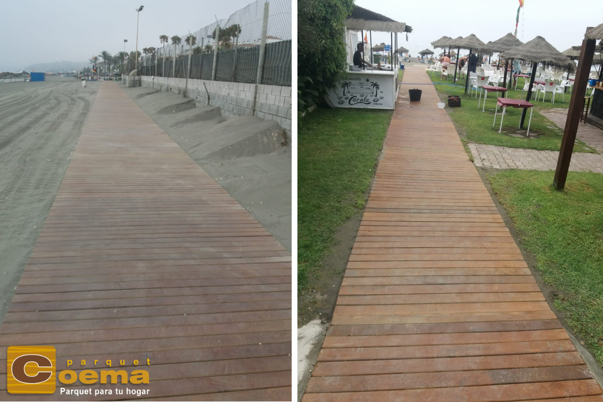 Pasarela de madera senda litoral